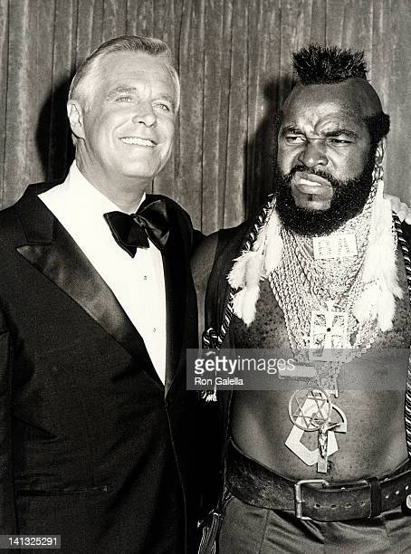 George Peppard and Mr T at the 35th Annual Primetime Emmy Awards Pasadena Civic Auditorium Pasadena