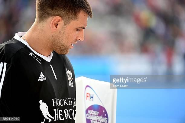 George Pinner of Great Britain during day two of the FIH Men's Hero Hockey Champions Trophy 2016 match between India and Great Britain at Queen...