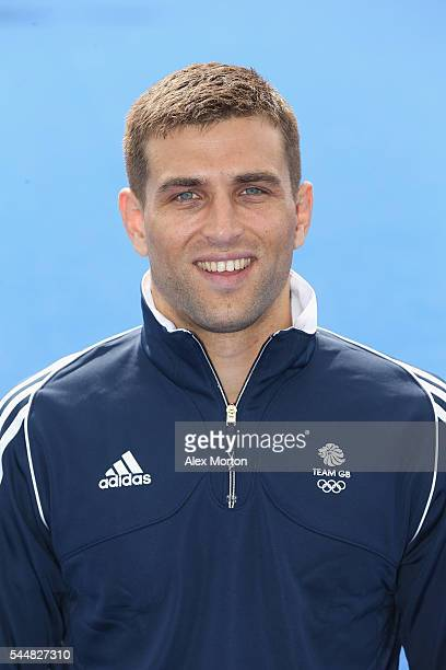 George Pinner of Team GB during the Announcement of Hockey Athletes Named in Team GB for the Rio 2016 Olympic Games at the Bisham Abbey National...