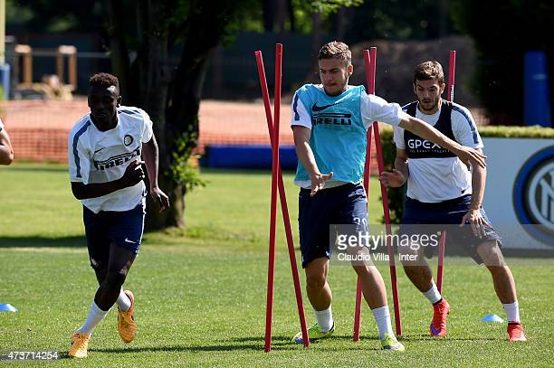 George Puscas during FC Internazionale training session at the club's training ground at Appiano Gentile on May 17 2015 in Como Italy