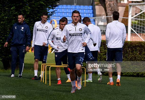 George Puscas during FC Internazionale training session at the club's training ground at Appiano Gentile on May 21 2015 in Como Italy