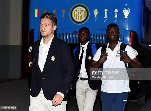 George Puscas of FC Internazionale before the Serie A match between FC Internazionale Milano and Empoli FC at Stadio Giuseppe Meazza on May 31 2015...