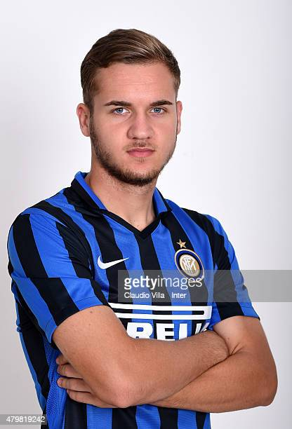 George Puscas of FC Internazionale poses for his Serie A 20152016 season official headshot at Riscone di Brunico on July 7 2015 in Bruneck Italy