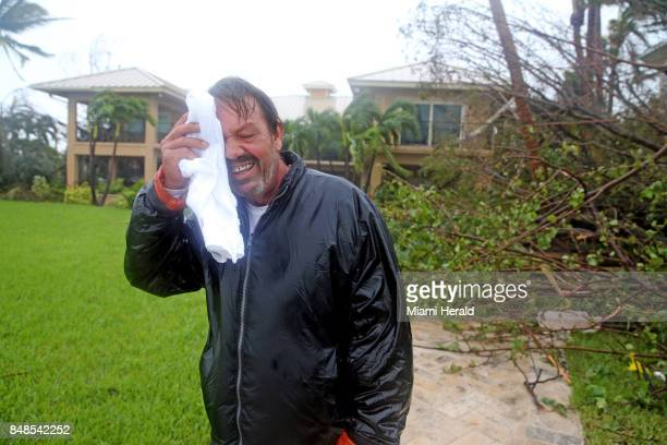George Ramos outside the house he is a caretaker for on Sunday Sept 10 2017 after Hurricane Irma swept a 10foot surge onto the house on Sumerland Key...