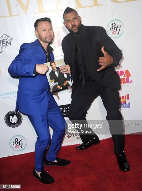 George Rojas and Lance Keys attend Amare Magazine Presents A Black Tie Event featuring cover model Mike O'Hearn held at Hangar 21 on November 14 2017...