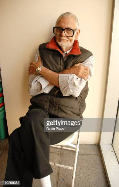 George Romero during 2006 Big Apple Comic Book Art Toy and Horror Expo Press Reception at Penn Plaza Pavilion in New York City New York United States
