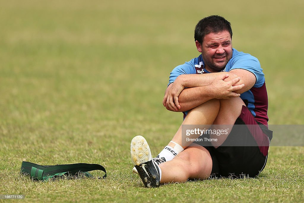 George Rose of the Sea Eagles warms down during a Manly Sea Eagles NRL pre-season training session at Sydney Academy of Sport on November 21, 2012 in Sydney, Australia.