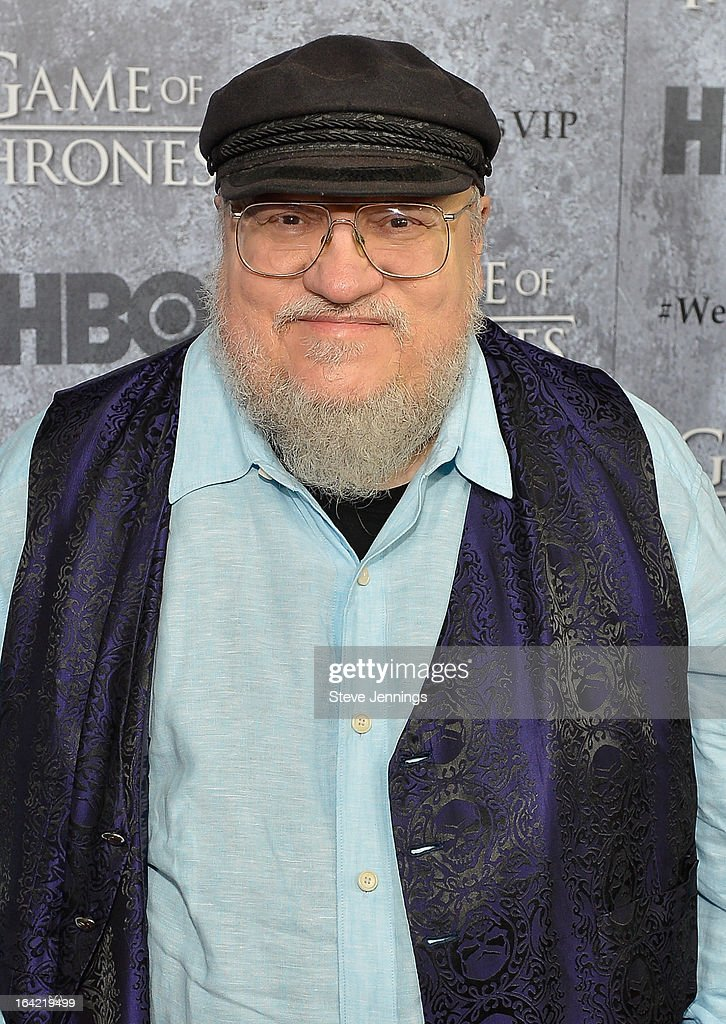 <a gi-track='captionPersonalityLinkClicked' href=/galleries/search?phrase=George+R.R.+Martin&family=editorial&specificpeople=7426691 ng-click='$event.stopPropagation()'>George R.R. Martin</a> attends the Season 3 Premiere of HBO's 'Game Of Thrones' at Palace Of Fine Arts Theater on March 20, 2013 in San Francisco, California.