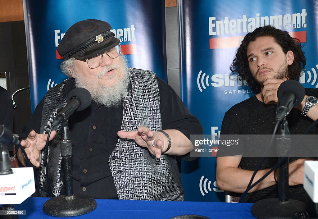 George RR Martin is interviewed on SiriusXM's Entertainment Weekly Radio channel from Comic-Con 2014 at The Hard Rock Hotel on July 25, 2014 in San Diego, California.