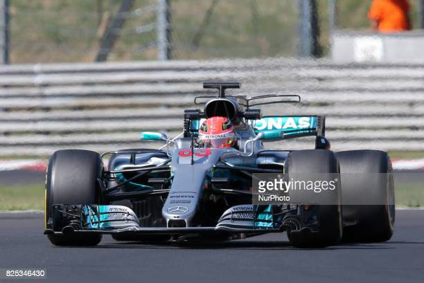George Russell during day one of F1 inseason testing at Hungaroring on August 1 2017 in Budapest Hungary
