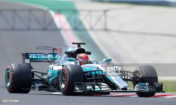 George Russell during day two of F1 in season testing at Hungaroring on August 2 2017 in Budapest Hungary