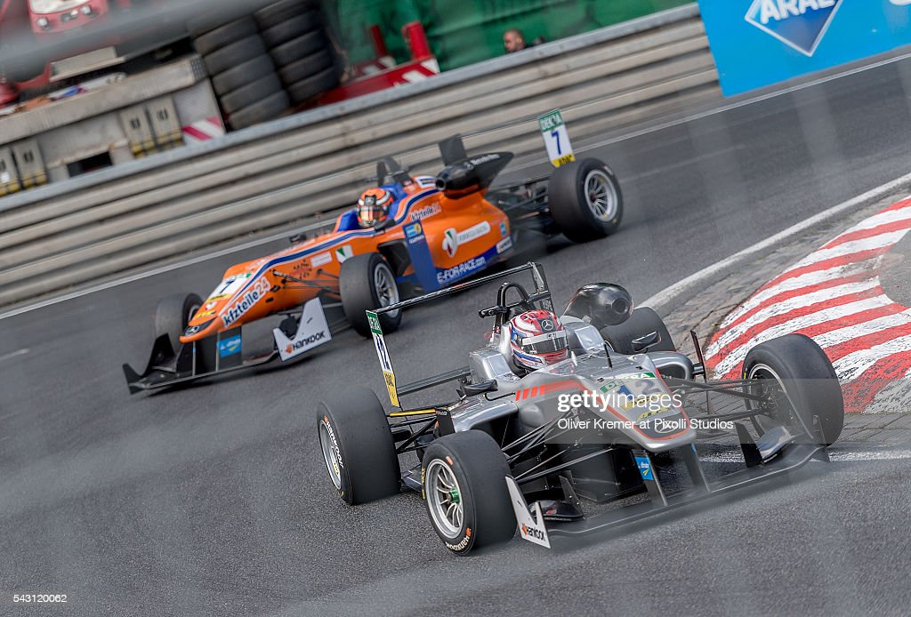George Russell (GBR) of Team HitechGP racing for the FIA Formula 3 European Championship at the Norisring during Day 2 of the 74. International ADAC Norisring Speedweekend on June 26, 2016 in Nuremberg, Germany.