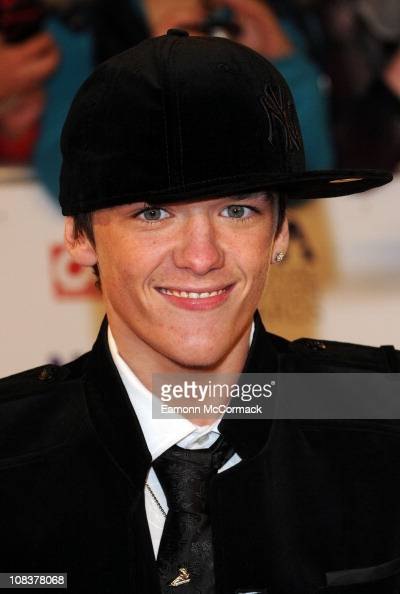 George Sampson arrives at The National Television Awards at O2 Arena on January 26 2011 in London England