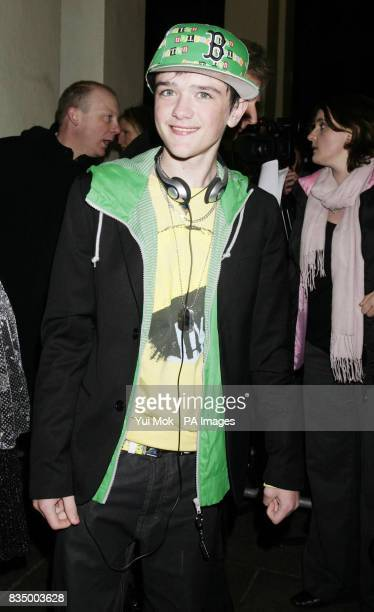 George Sampson arriving for the first night of the musical 'Oliver' at the Theatre Royal in Drury Lane central London