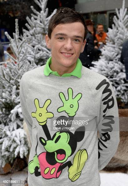 George Sampson attends Disney's 'Frozen' celebrity screening at the Odeon Leicester Square on November 17 2013 in London England