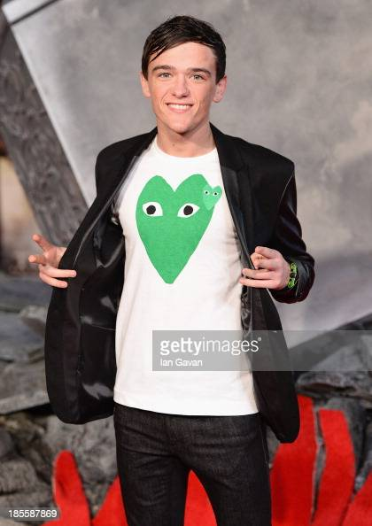 George Sampson attends the World Premiere of 'Thor The Dark World' at Odeon Leicester Square on October 22 2013 in London England