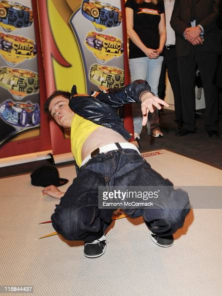 George Sampson promotes Battle Strikers at the Toy Fair 2009 at ExCeL on January 28 2009 in London England