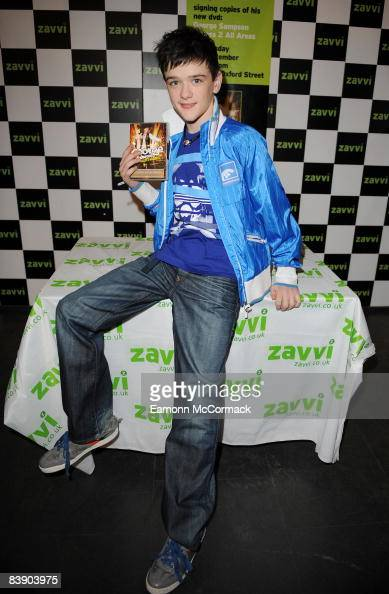 George Sampson signs copies of his DVD 'Access 2 All Areas' at Zavvi on December 3 2008 in London England