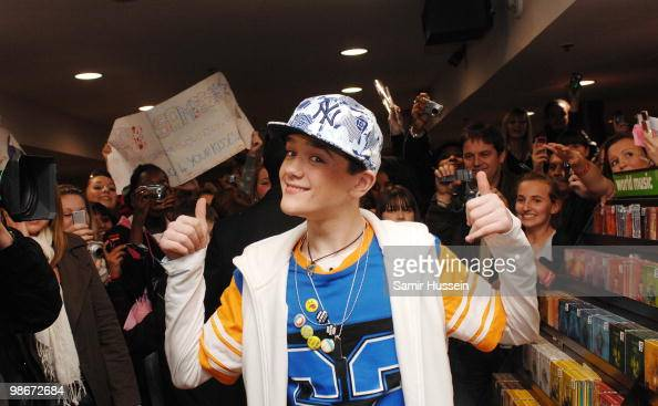 George Sampson winner of 'Britain's Got Talent' poses at Zavvi Picadilly at the launch of his new single on November 24 2008 in London England