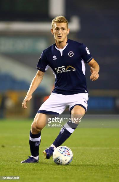 George Saville of Millwall during Sky Bet Championship match between Millwall against Reading at The Den London on 26 Sept 2017