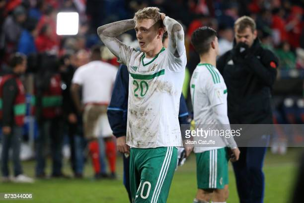 George Saville of Northern Ireland following the FIFA 2018 World Cup Qualifier PlayOff Second Leg between Switzerland and Northern Ireland at St...