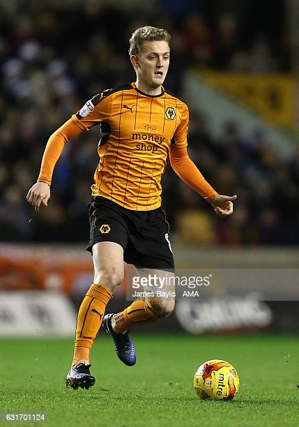 George Saville of Wolverhampton Wanderers during the Sky Bet Championship match between Wolverhampton Wanderers and Aston Villa at Molineux on...