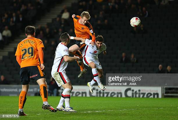 George Saville of Wolverhampton Wanderers scores a goal to make it 11 during the Sky Bet Championship match between MK Dons and Wolverhampton...