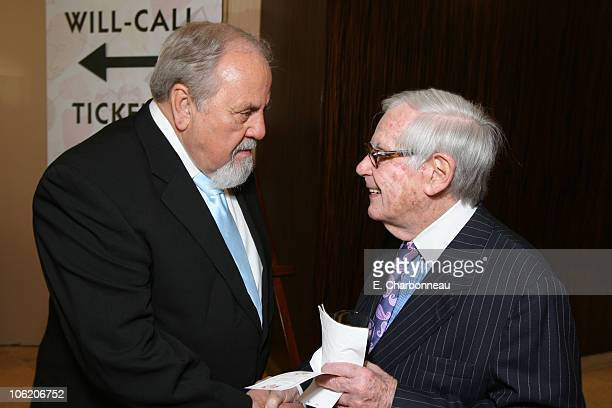 George Schlatter and Dominick Dunne during Juvenile Diabetes Research Foundation Annual Gala at Beverly Hilton Hotel in Beverly Hills California...