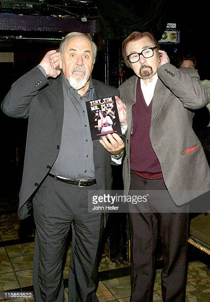 George Schlatter and Gary Owens during 'A Tribute To Tiny Tim' 10th November 2004 at The IMPROV in Los Angeles California United States