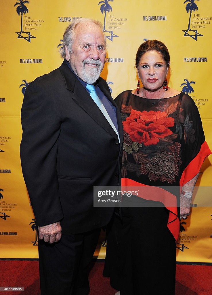 <a gi-track='captionPersonalityLinkClicked' href=/galleries/search?phrase=George+Schlatter&family=editorial&specificpeople=691335 ng-click='$event.stopPropagation()'>George Schlatter</a> and Lanie Kazan attend the Opening Night Gala of the LA Jewish Film Festival Honoring Carl Reiner on May 1, 2014 in Los Angeles, California.