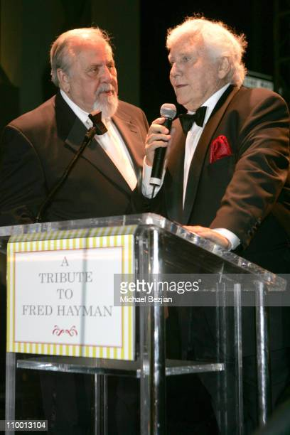 George Schlatter and Merv Griffin during City of Beverly Hills Honors Fashion Icon and Giorgio Founder Fred Hayman at Black Tie Gala at Dayton Way in...