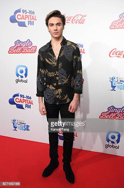 George Shelley attends Capital's Jingle Bell Ball with CocaCola at the 02 Arena on December 3 2016 in London United Kingdom
