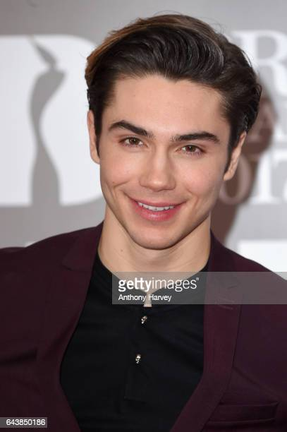 George Shelley attends The BRIT Awards 2017 at The O2 Arena on February 22 2017 in London England