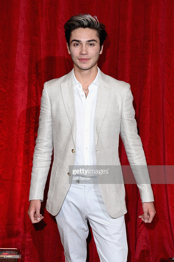 <a gi-track='captionPersonalityLinkClicked' href=/galleries/search?phrase=George+Shelley+-+Singer&family=editorial&specificpeople=13633342 ng-click='$event.stopPropagation()'>George Shelley</a> attends the British Soap Awards 2016 at Hackney Empire on May 28, 2016 in London, England.