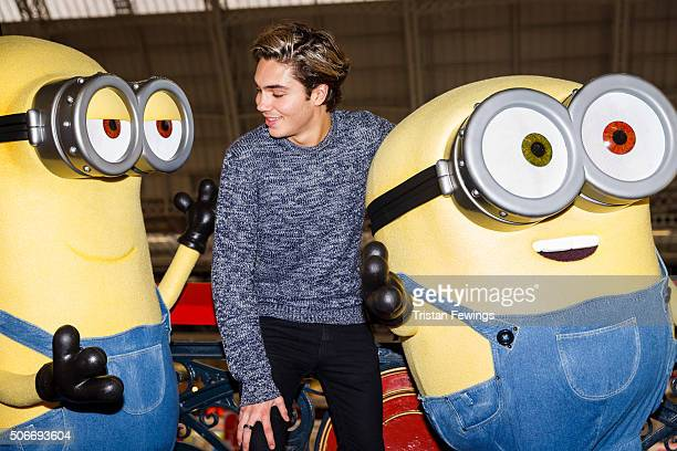 George Shelley attends the Toy Fair 2016 at Kensington Olympia on January 25 2016 in London England