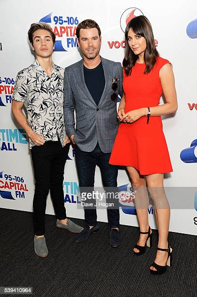 George Shelley Dave Berry and Lilah Parsons arrive for Capital's Summertime Ball at Wembley Stadium on June 11 2016 in London England