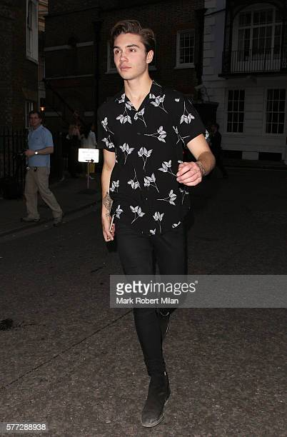 George Shelley leaving the Syco summer party at St James' Palace on July 18 2016 in London England