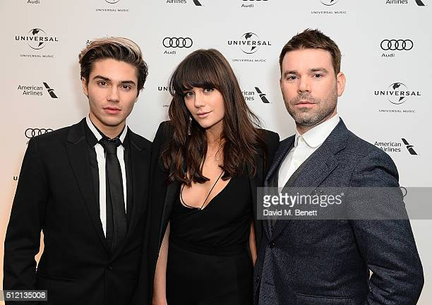 George Shelley Lilah Parsons and Dve Berry attend the Universal Music BRIT Awards AfterParty 2016 in collaboration with Soho House on February 24...