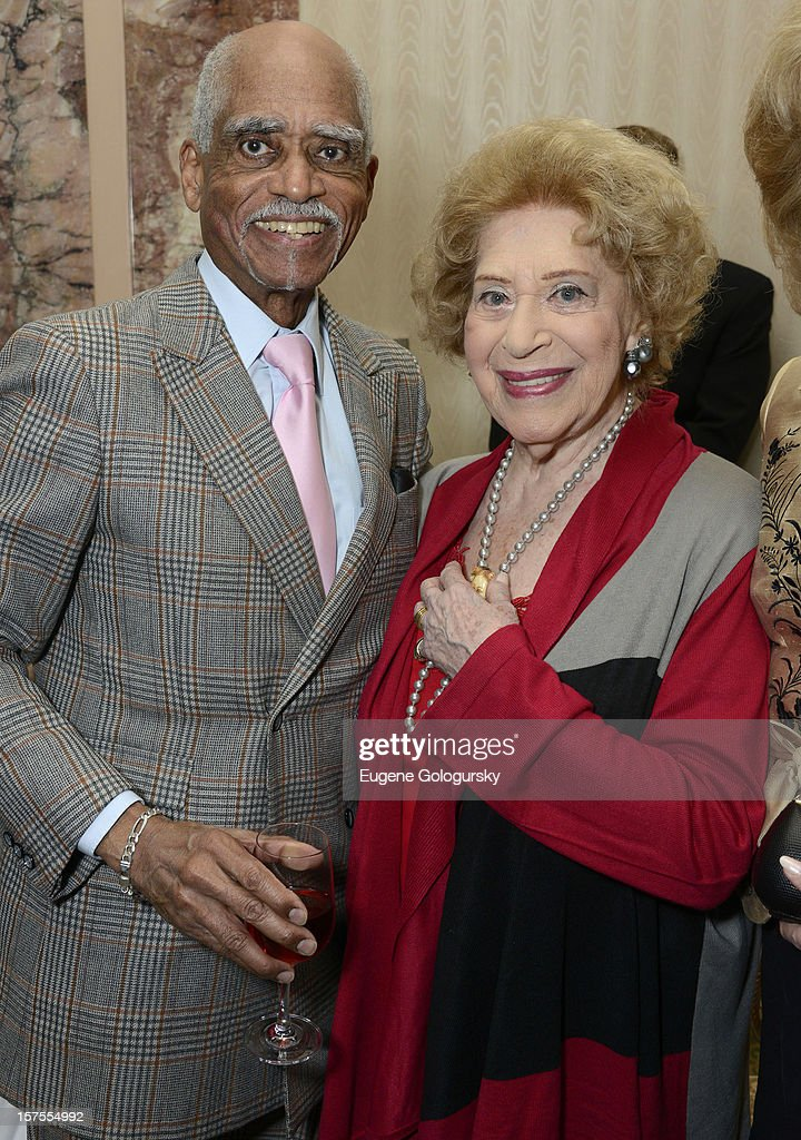 George Shirley and <a gi-track='captionPersonalityLinkClicked' href=/galleries/search?phrase=Regina+Resnik&family=editorial&specificpeople=1555442 ng-click='$event.stopPropagation()'>Regina Resnik</a> attend the Metropolitan Opera Guild's 78th Annual Luncheon Celebrating 'Star Power!' at The Waldorf Astoria on December 4, 2012 in New York City.