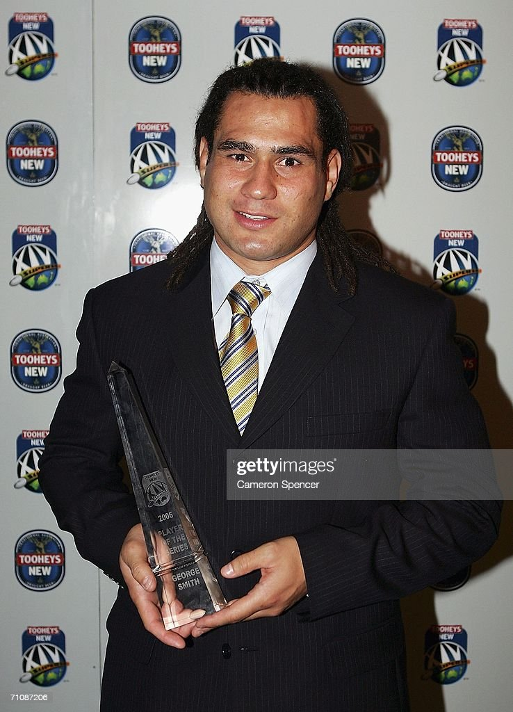 <a gi-track='captionPersonalityLinkClicked' href=/galleries/search?phrase=George+Smith+-+Rugby+Player&family=editorial&specificpeople=15720629 ng-click='$event.stopPropagation()'>George Smith</a> of the Brumbies poses for a photograph after being awarded the 2006 Super 14 Player of the Series at the 2006 Tooheys New Super 14 Awards at the Establishment Hotel May 31, 2006 in Sydney, Australia.