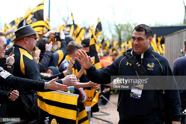 George Smith of Wasps arrives at the stadium prior to the European Rugby Champions Cup Semi Final between Saracens and Wasps at the Madejski Stadium...