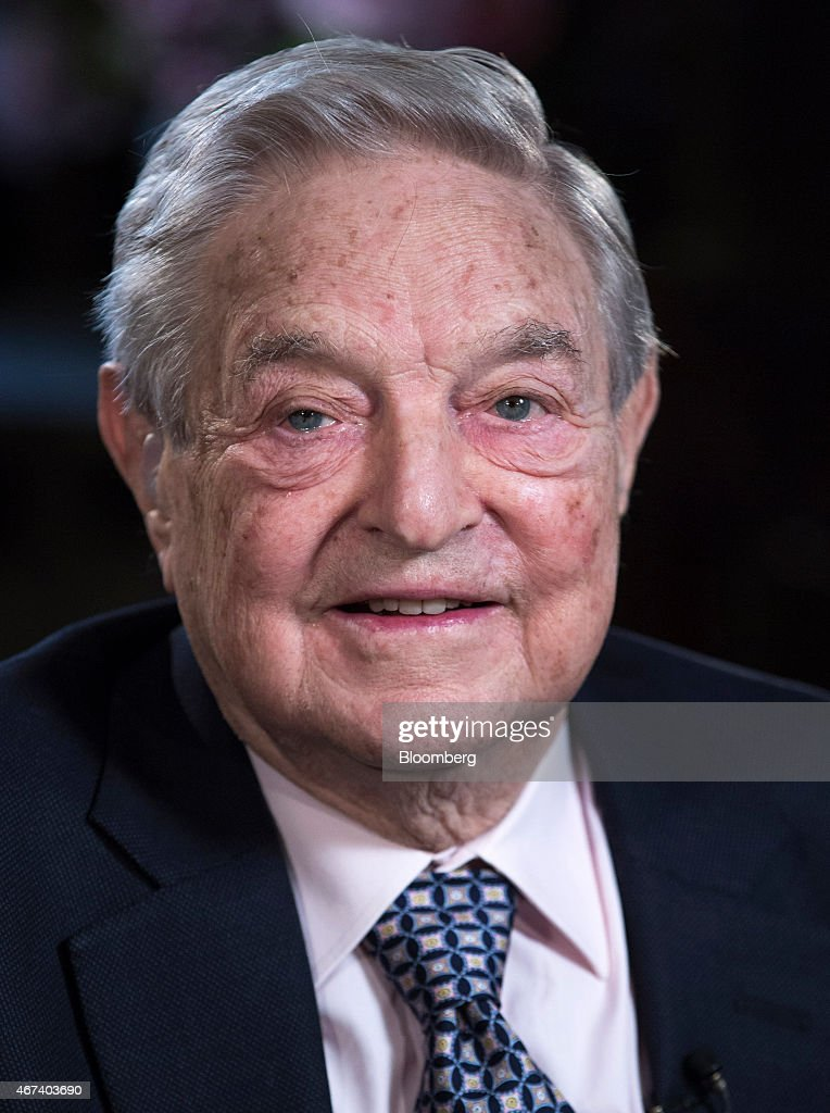 <a gi-track='captionPersonalityLinkClicked' href=/galleries/search?phrase=George+Soros&family=editorial&specificpeople=212841 ng-click='$event.stopPropagation()'>George Soros</a>, billionaire and founder of Soros Fund Management LLC, pauses during a Bloomberg Television interview recorded at his home in London, U.K., on Monday, March 24, 2015. The chances of Greece leaving the euro area are now 50-50 and the country could go down the drain, billionaire investor Soros said. Photographer: Jason Alden/Bloomberg via Getty Images