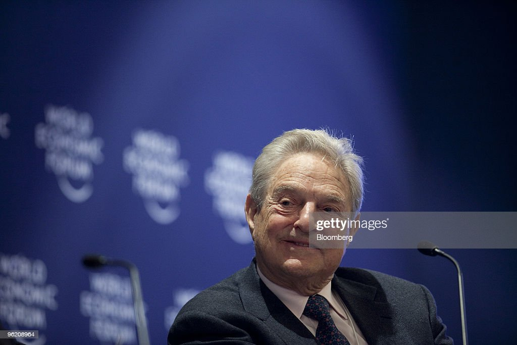<a gi-track='captionPersonalityLinkClicked' href=/galleries/search?phrase=George+Soros&family=editorial&specificpeople=212841 ng-click='$event.stopPropagation()'>George Soros</a>, chairman of Soros Fund Management, participates in a panel session on day one of the 2010 World Economic Forum (WEF) annual meeting in Davos, Switzerland, on Wednesday, Jan. 27, 2010. The organizing theme for this year's meeting is 'Improve the State of the World: Rethink, Redesign, Rebuild.' Photographer: Nelson Ching/Bloomberg via Getty Images