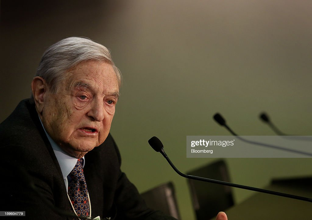 George Soros, founder of Soros Fund Management LLC, speaks in a session
