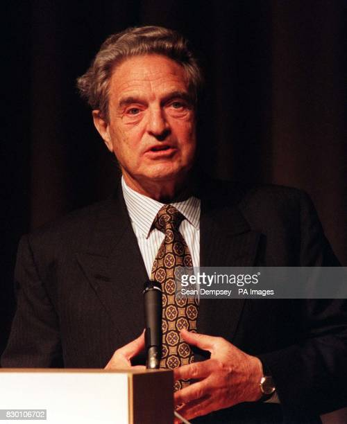 George Soros the Hungarianborn fund manager who helped push sterling over the brink and out of the European exchange rate mechanism on black...