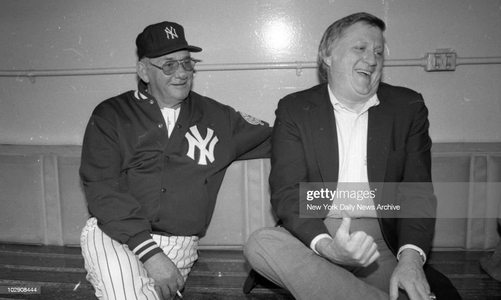 <a gi-track='captionPersonalityLinkClicked' href=/galleries/search?phrase=George+Steinbrenner&family=editorial&specificpeople=220576 ng-click='$event.stopPropagation()'>George Steinbrenner</a> isn't giving the thumb to Bob Lemon, he's rehiring him.