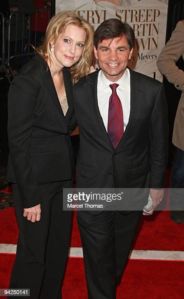 George Stephanopoulos and Alexandra Wentworth attend the New York premiere of the movie 'It's Complicated' held at the Paris theater in Manhattan on...