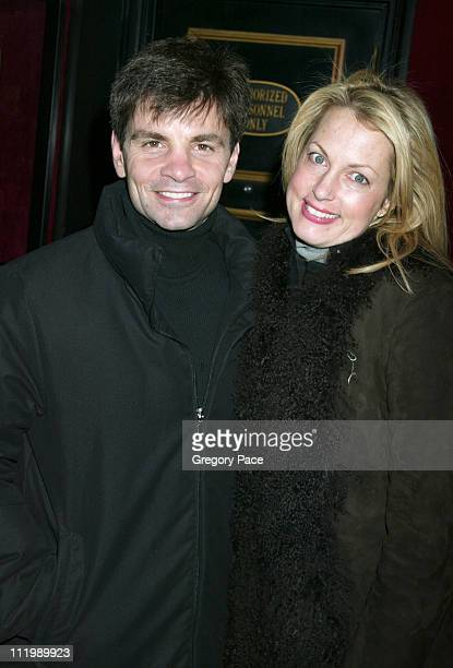 George Stephanopoulos and Alexandra Wentworth during 'Cold Mountain' New York Premiere Inside Arrivals at The Ziegfeld Theater in New York City New...