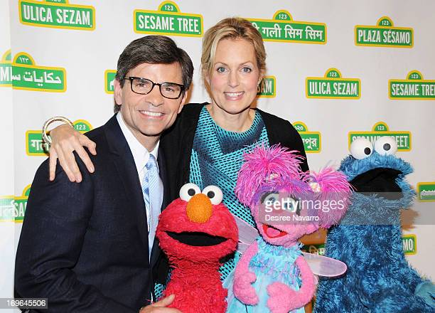 George Stephanopoulos and Ali Wentworth attend the 11th annual Sesame Street Workshop Benefit Gala at Cipriani 42nd Street on May 29 2013 in New York...