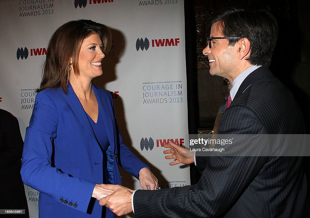 <a gi-track='captionPersonalityLinkClicked' href=/galleries/search?phrase=George+Stephanopoulos&family=editorial&specificpeople=206404 ng-click='$event.stopPropagation()'>George Stephanopoulos</a> and Norah O'Donnell attend the International Women's Media Foundation's 2013 Courage In Journalism awards at Cipriani 42nd Street on October 23, 2013 in New York City.